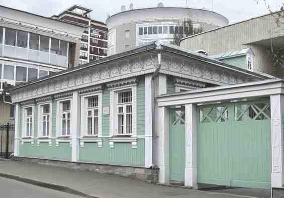 Москва. Пресненский район Старинный дом в Большом Предтеченском переулке