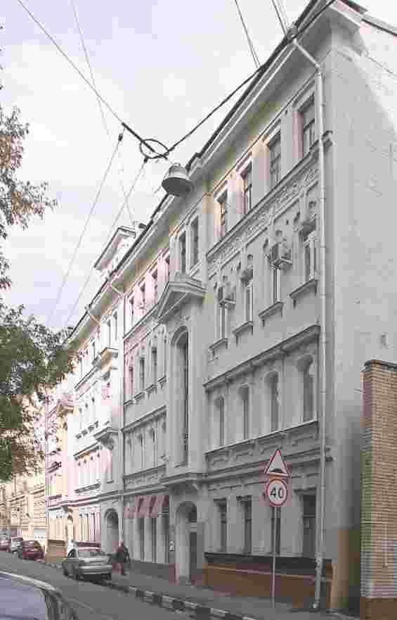 Москва. Большой Козихинский переулок . Доходный дом архитектора Мясникова
