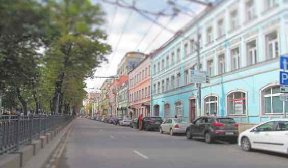Москва. Старинный Петровский бульвар
