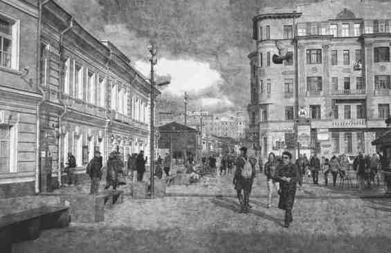 Район Замосковоречья. Историческое фото