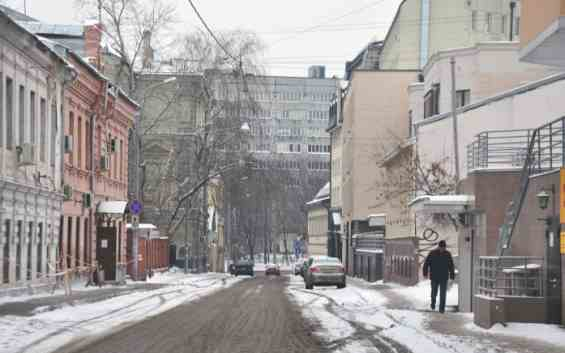Московский Большой Дровяной переулок зимой