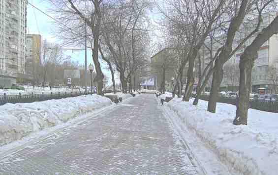 Таганский район. Абельмановская улица зимой
