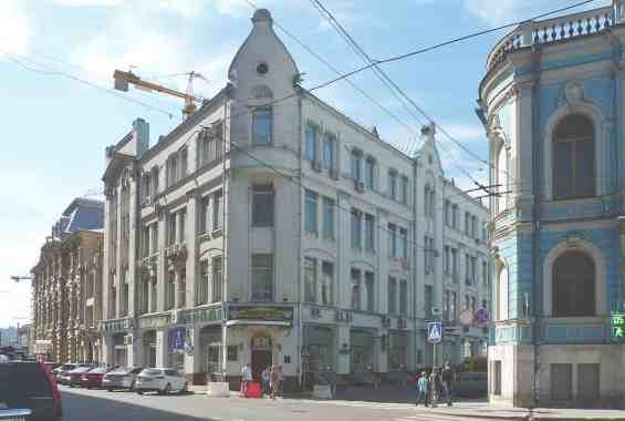 Фуркасовский переулок Бывший доходный дом Кеппена, построенный в  1907 - 1908 годах