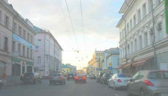 Москва. Старинная улица Сретенка