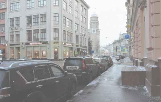 Москва. Улица Ильинка зимой