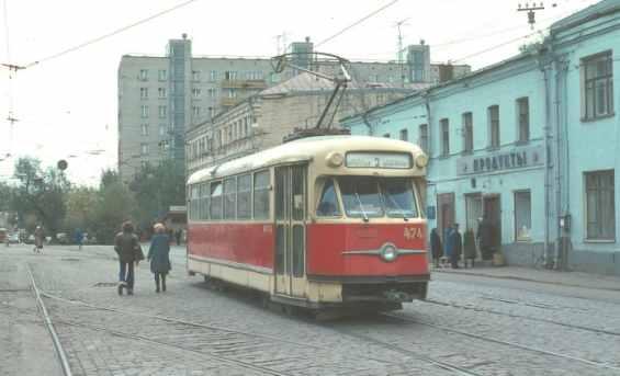 Трамвай на Дубининской улице
