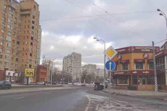 Улица Рогожский Вал в январе месяце 2015 года